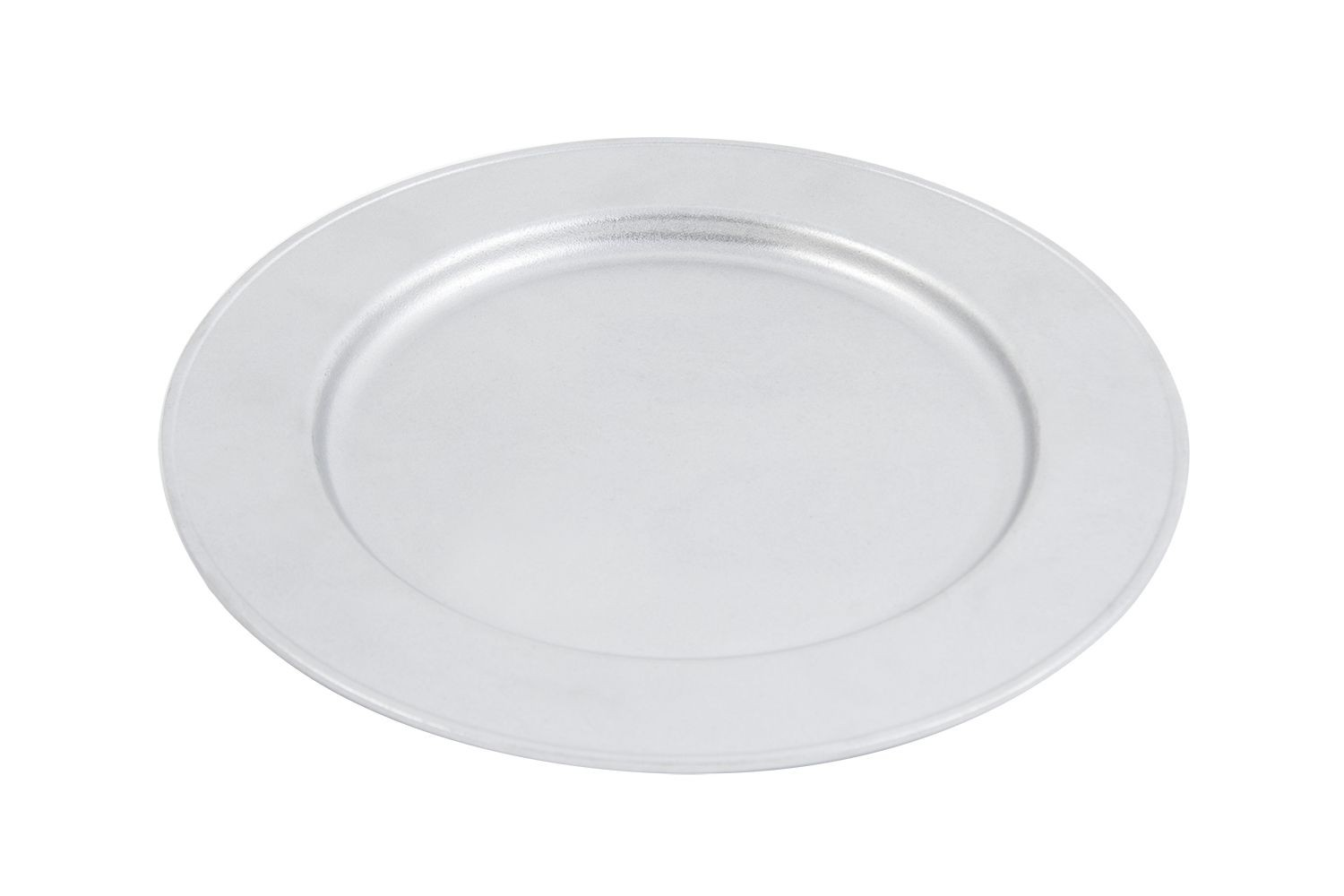 """Bon Chef 1023P Rimmed Pewter Glo 13"""" Charger Plate, Set of 3"""