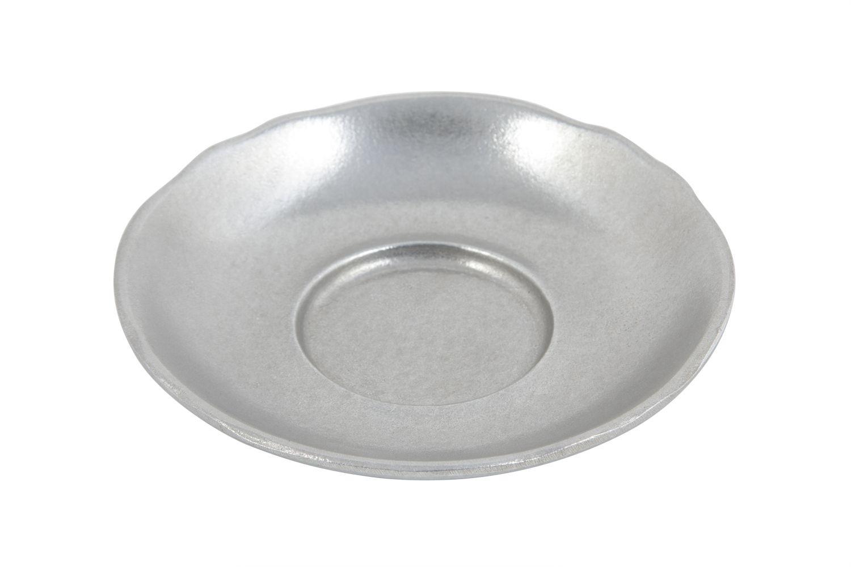 "Bon Chef 1026P Aluminum Saucer, Pewter Glo 5 3/8"" Dia., Set of 12"