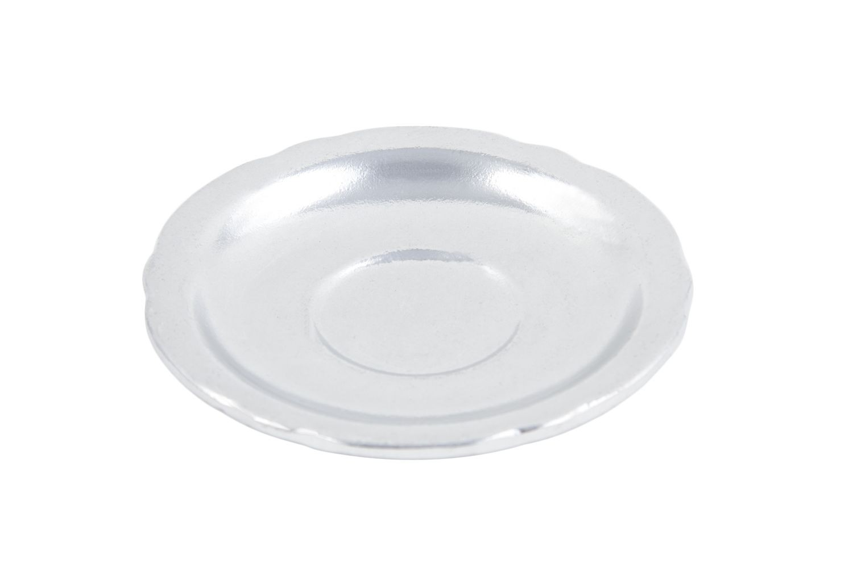 "Bon Chef 1029P Aluminum Saucer, Pewter Glo 5 1/4"" Dia., Set of 12"