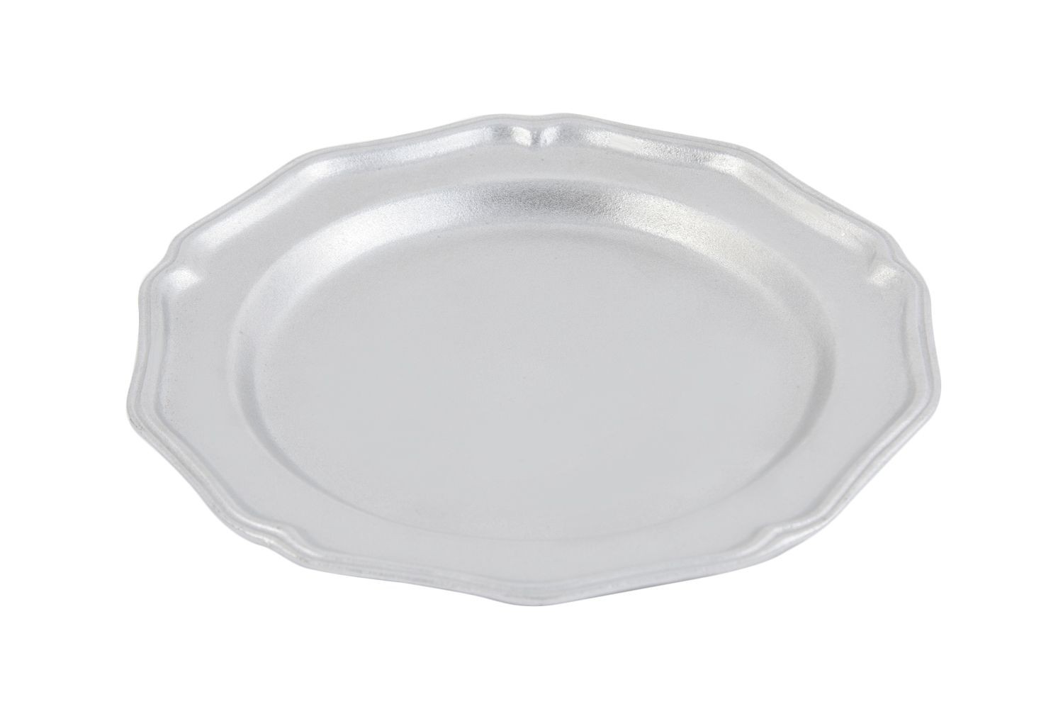"Bon Chef 1033P Queen Anne Salad Plate, Pewter Glo 9"" Dia., Set of 6"