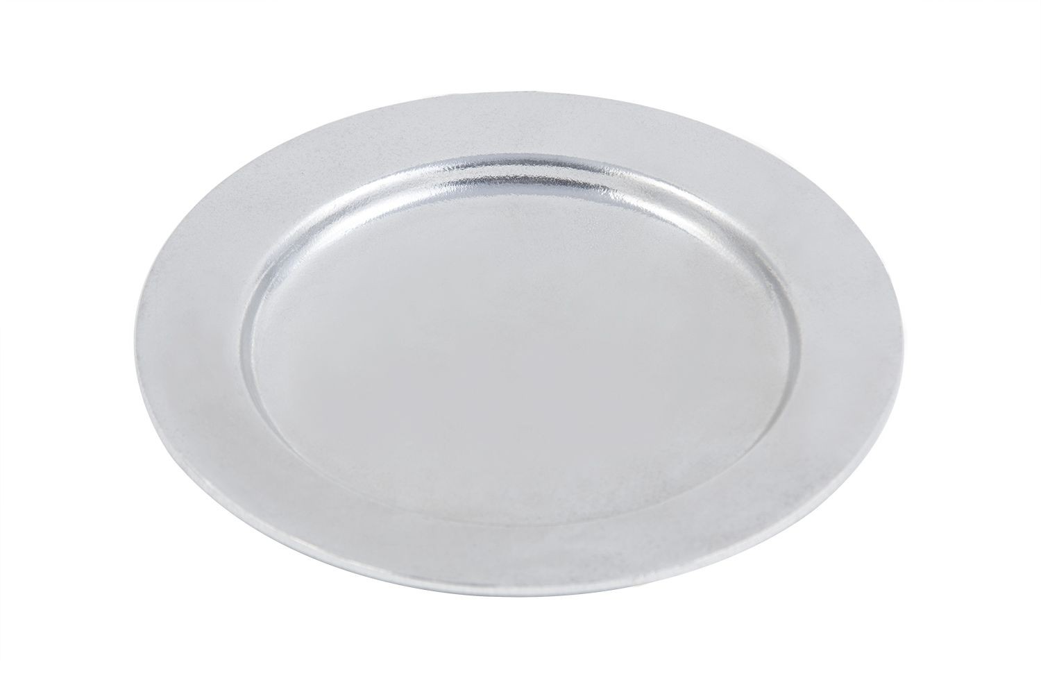 "Bon Chef 1042P Contemporary Salad Plate, Pewter Glo 8"" Dia., Set of 12"