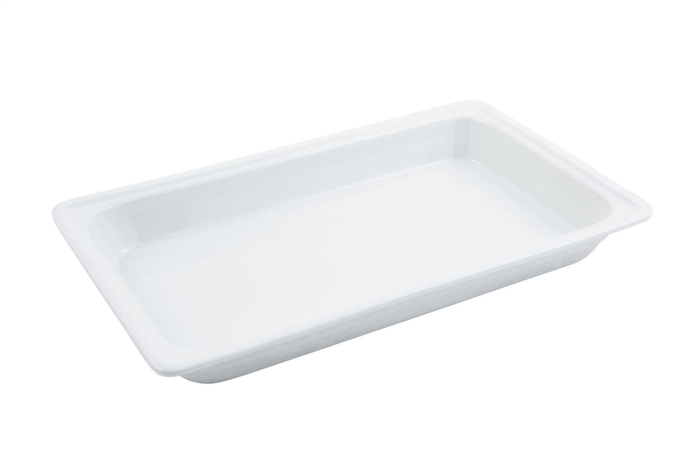 "Bon Chef 12017 Rectangular Ceramic Food Pan, 20 7/8"" x 12 5/8"""