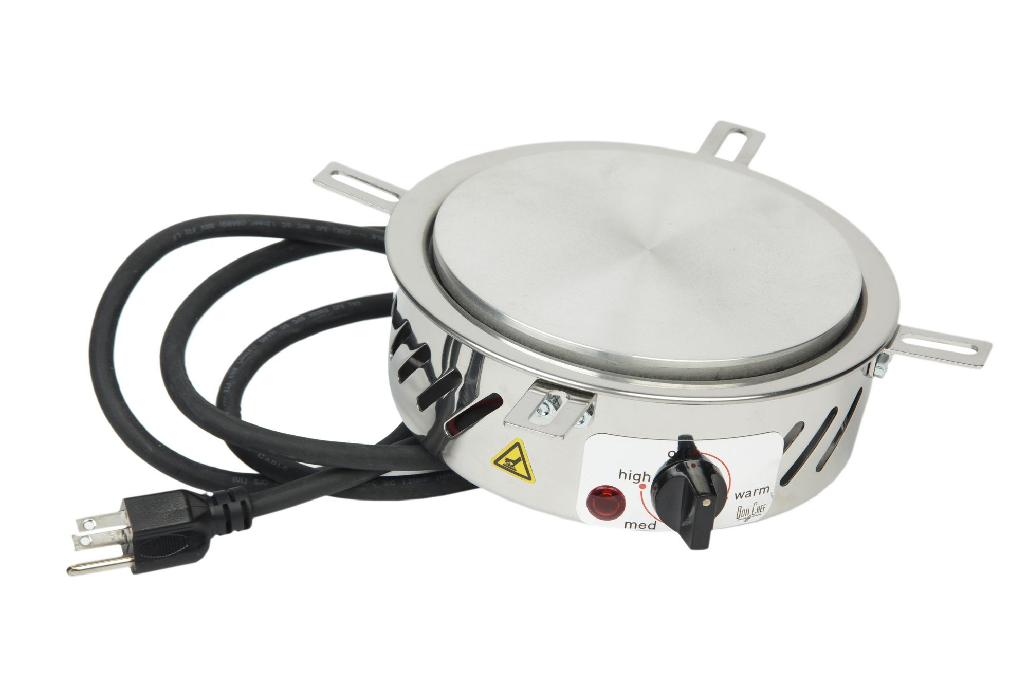 "Bon Chef 12090 Heating Stove for Chafing Dish, 110V 7"" Dia., 3"" H."