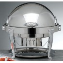 Bon Chef 13009 Elite Dripless Silver Plated Round Chafer with Aurora Legs, 8 Qt.