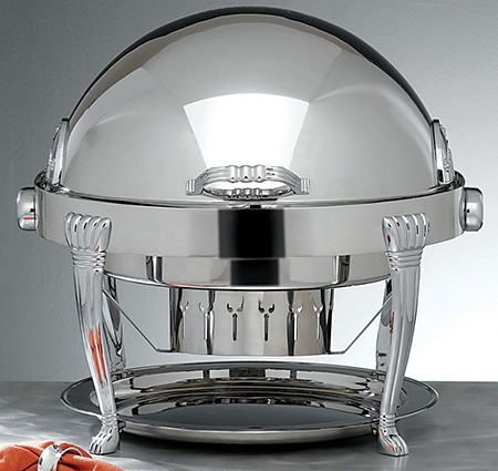 Bon Chef 13009 Elite Dripless Silver Plated Round Chafer