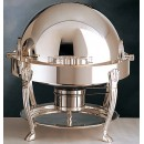 Bon Chef 13014 Petite Chafer with Silver Plated Accents and Aurora Legs, 3 Qt.