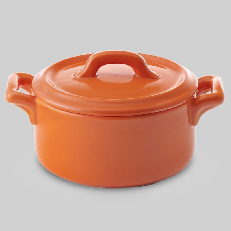 """Bon Chef 1600002POrange Cocottes 4"""" Round Baker Base Orange, 9 1/2 oz., Set of 36"""