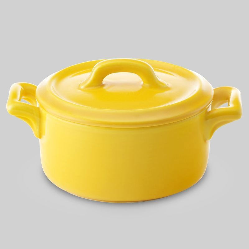 "Bon Chef 1600003PYellow Cocottes Cover for 4"" Round Baker Base Yellow, Set of 36"