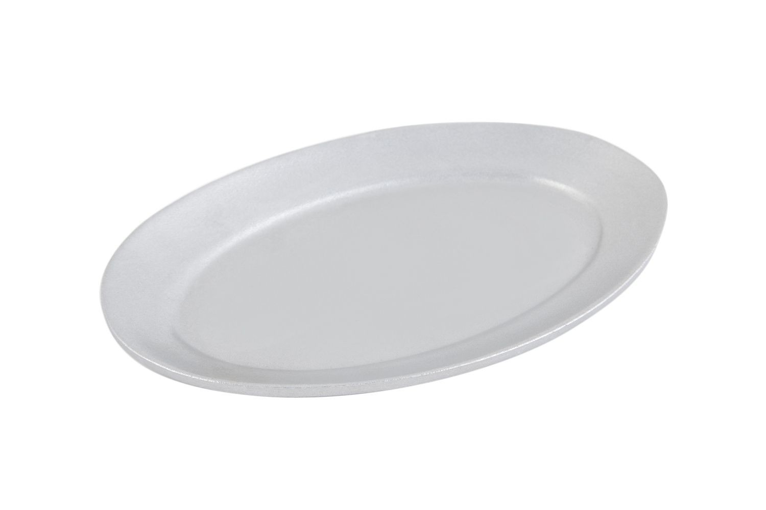 "Bon Chef 2000P Oval Steak Platter, Pewter Glo 7"" x 10 1/4"", Set of 6"