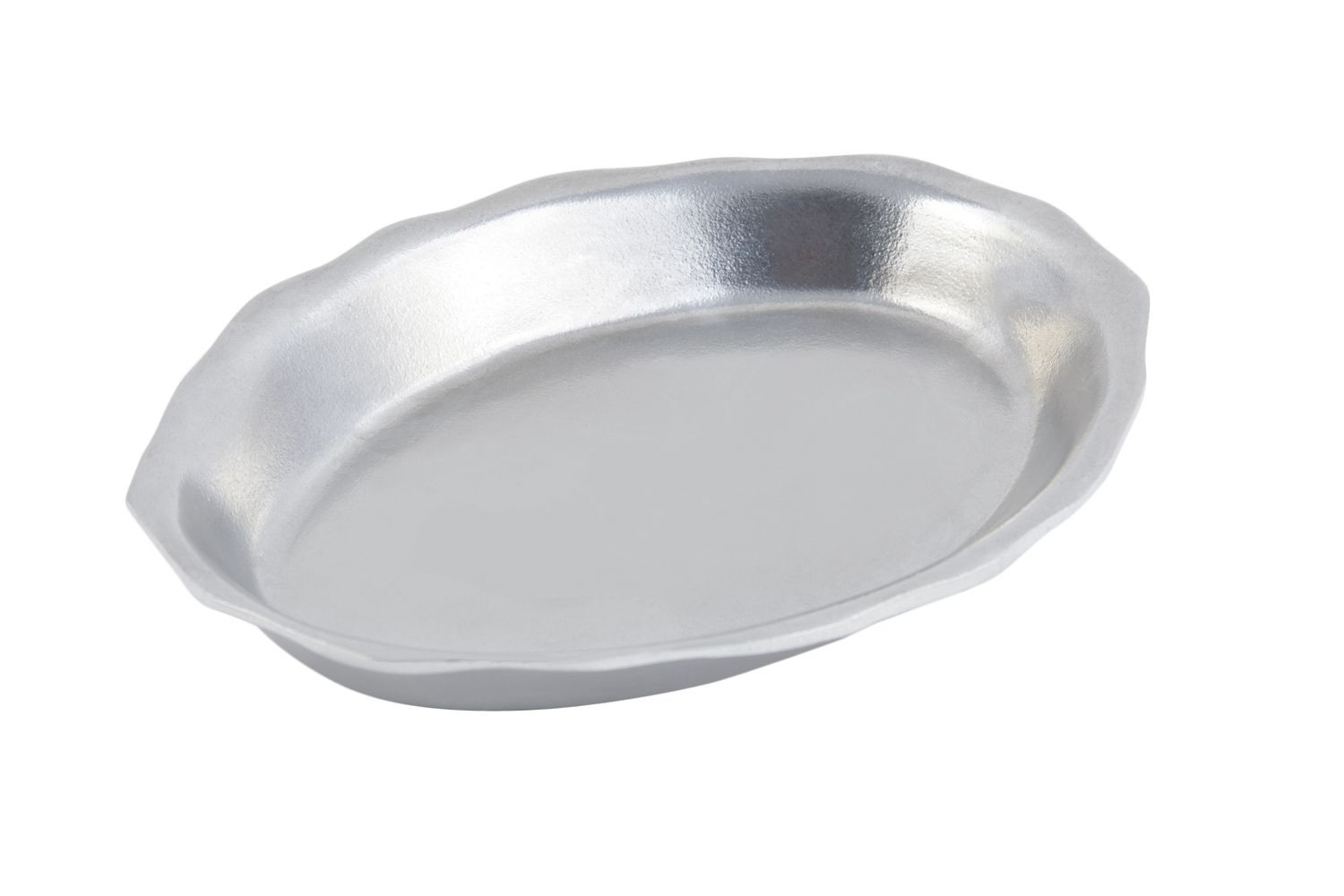 "Bon Chef 2012P Queen Anne Sandwich Platter, Pewter Glo 6 3/4"" x 9"", Set of 3"