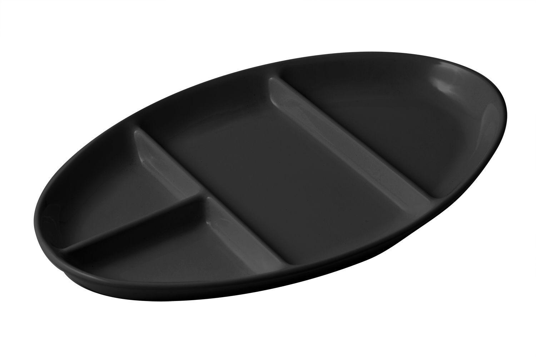 "Bon Chef 2020S Four-Compartment Tray, Sandstone 7 1/2"" x 11 3/4"", Set of 6"