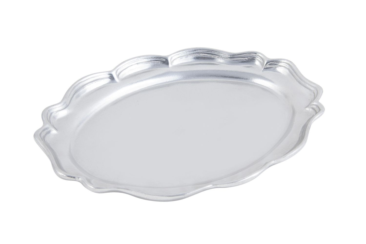 "Bon Chef 2022P Queen Anne Oval Platter, Pewter Glo 9 1/2"" x 12"", Set of 3"