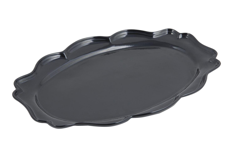 "Bon Chef 2022S Queen Anne Oval Platter, Sandstone 9 1/2"" x 12"", Set of 3"