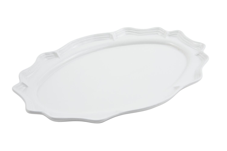 "Bon Chef 2023S Queen Anne Oval Platter, Sandstone 10"" x 13"", Set of 3"