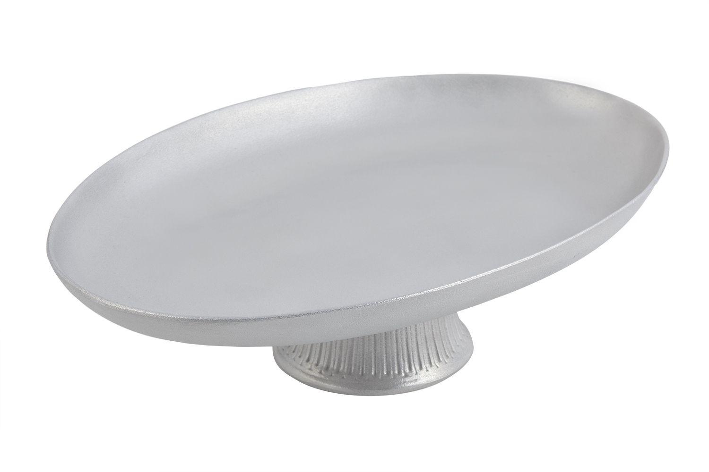 "Bon Chef 20269059P Coupe Pedestal Platter, Pewter Glo 17"" x 12 1/4"" x 5"""