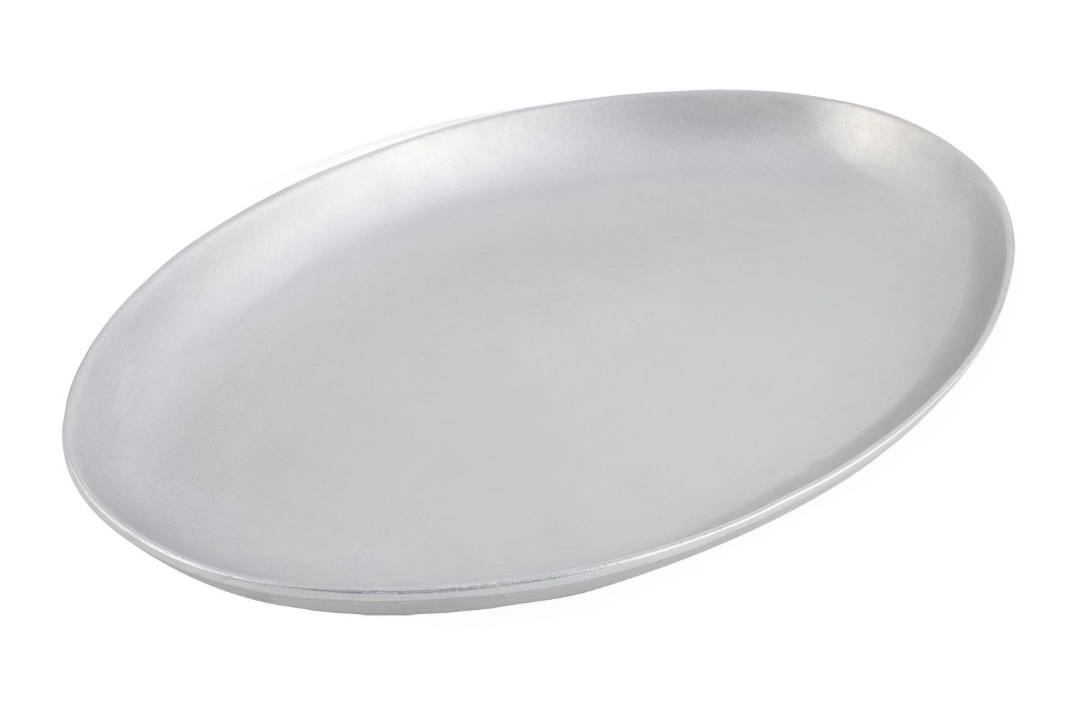 "Bon Chef 2026P Coupe Platter, Pewter Glo 12 1/4"" x 17"""