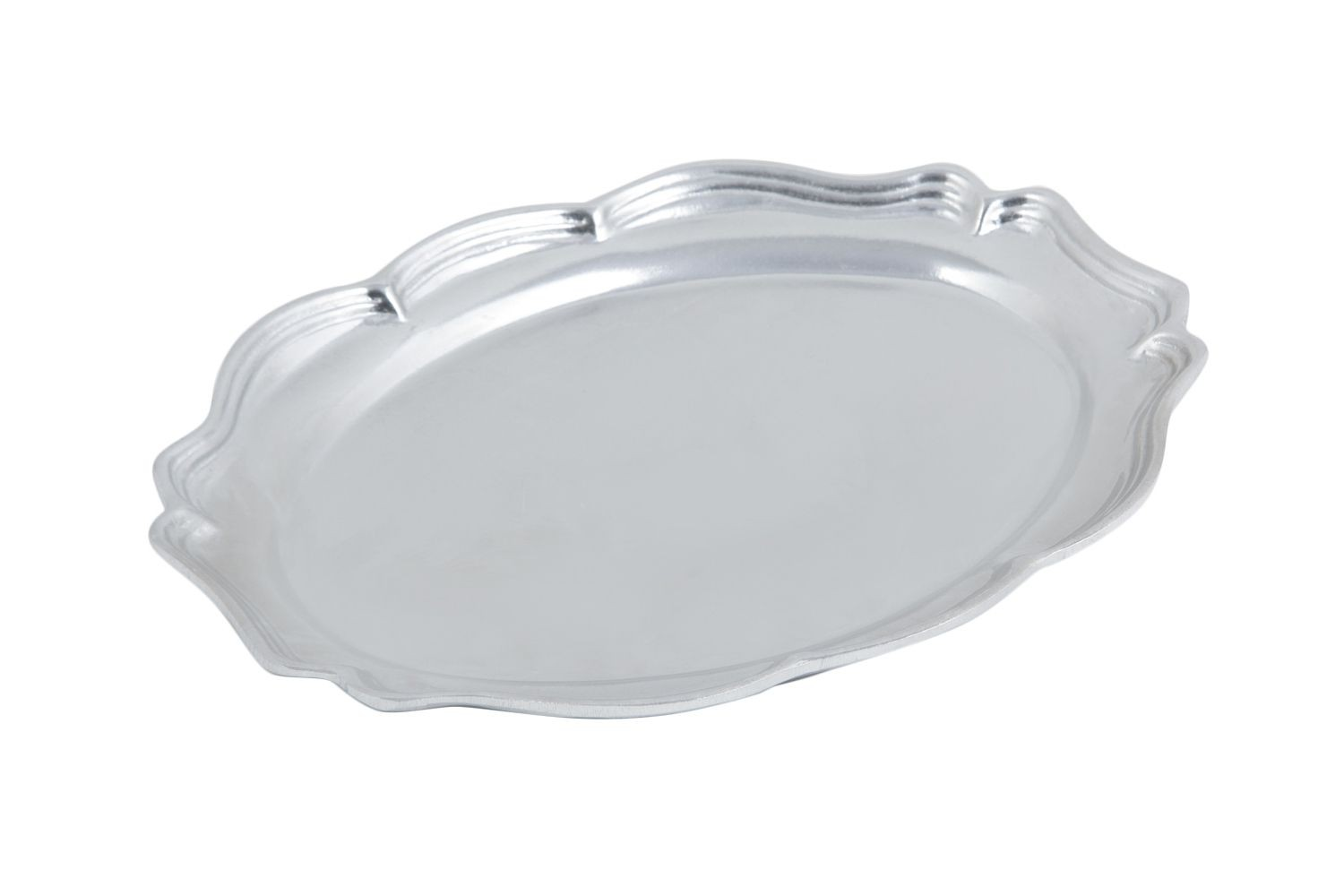 "Bon Chef 2027P Queen Anne Oval Platter, Pewter Glo 12 1/2"" x 16"""