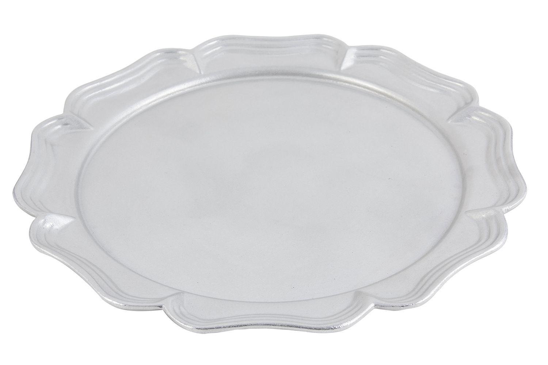 """Bon Chef 2036P Queen Anne Round Platter, Pewter Glo 16"""" Dia."""