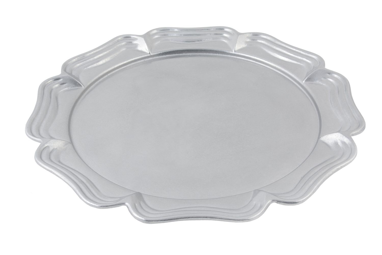 """Bon Chef 2061P Queen Anne Round Platter, Pewter Glo 18"""" Dia."""
