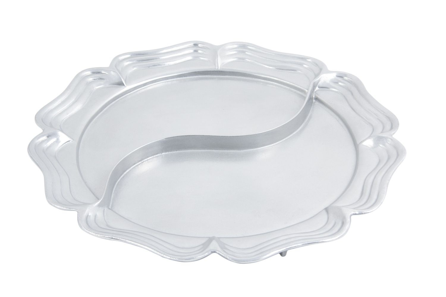 "Bon Chef 2062DP Queen Anne Divided Platter, Pewter Glo 20"" Dia."