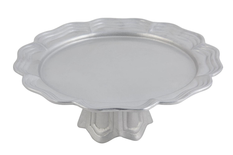 "Bon Chef 20679058P Queen Anne Pedestal Platter, Pewter Glo 13"" Dia."