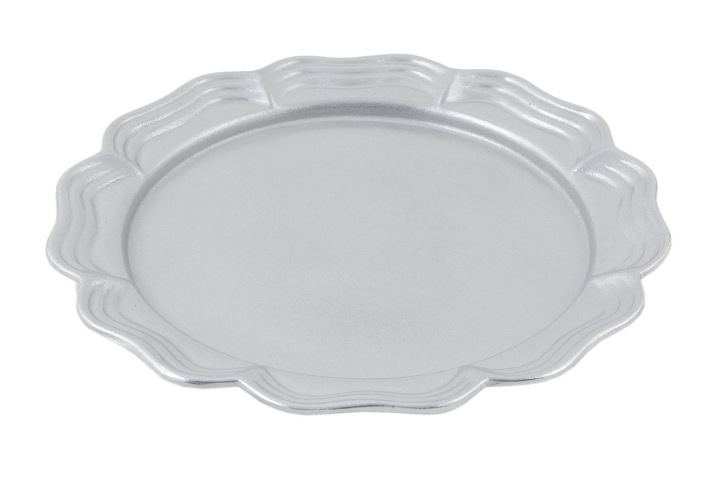 "Bon Chef 2067P Queen Anne Round Platter, Pewter Glo 13"" Dia., Set of 2"