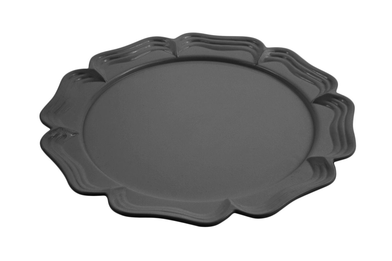 """Bon Chef 2067S Queen Anne Round Platter, Sandstone 13"""" Dia., Set of 2"""