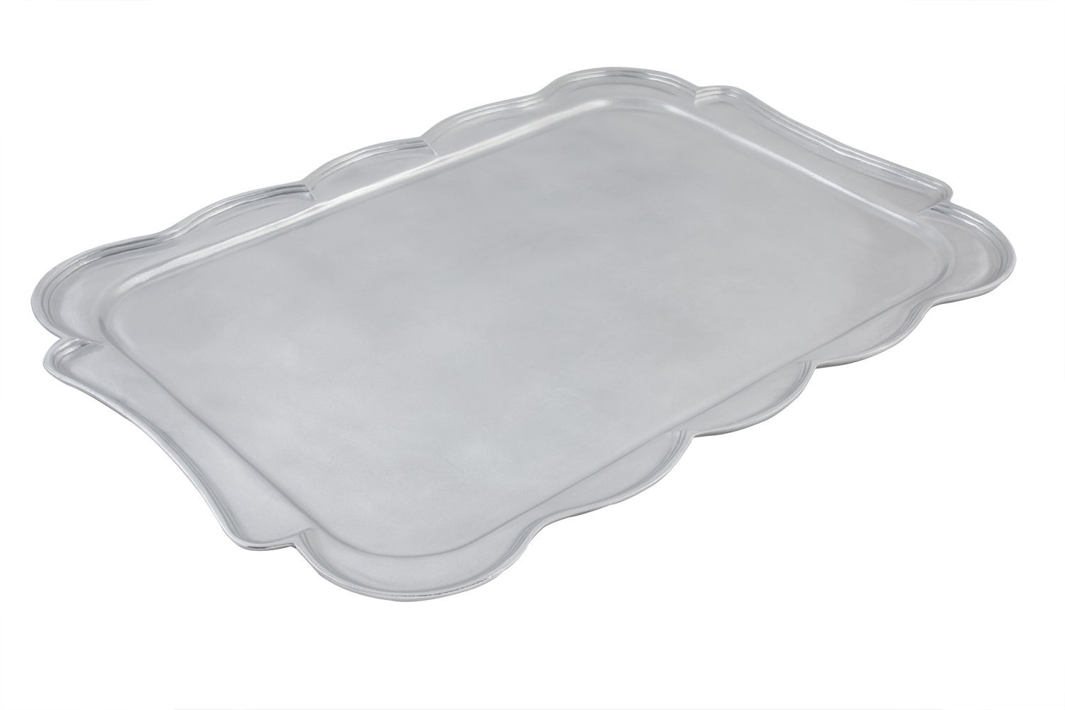 "Bon Chef 2068P Queen Anne Rectangular Serving Tray, Pewter Glo 22"" x 32"""