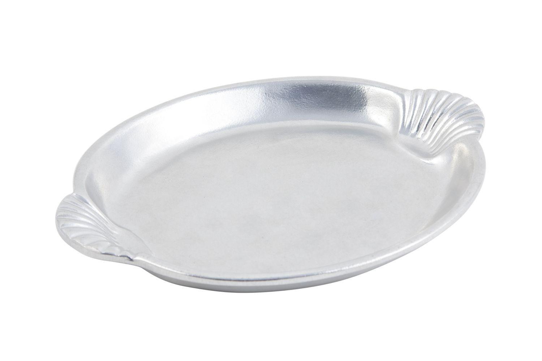 "Bon Chef 2074P Shell Handle Platter, Pewter Glo 15 1/2"" x 22 1/2"""