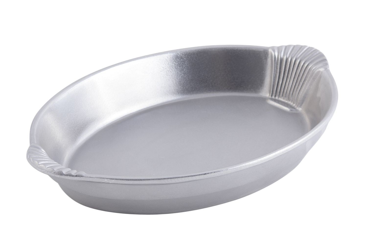 "Bon Chef 2078P Oval Casserole Dish with Shell Handles, Pewter Glo 12"" x 17"" x 2 1/2"""