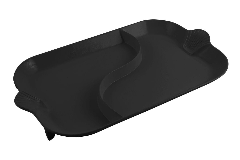"Bon Chef 2096DS Shell Handle Divided Platter, Sandstone 18"" x 26"""