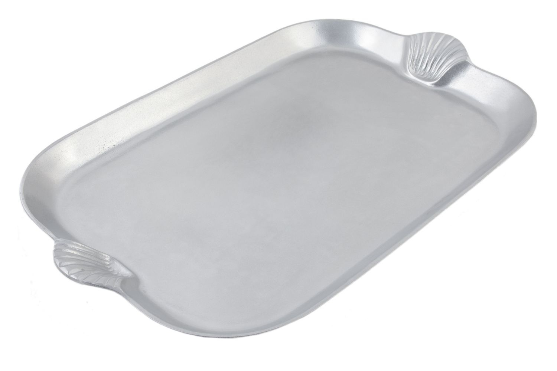 "Bon Chef 2096P Shell Handle Platter, Pewter Glo 18"" x 26"""