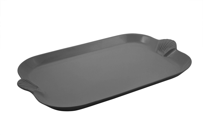 "Bon Chef 2096S Shell Handle Platter, Sandstone 18"" x 26"""