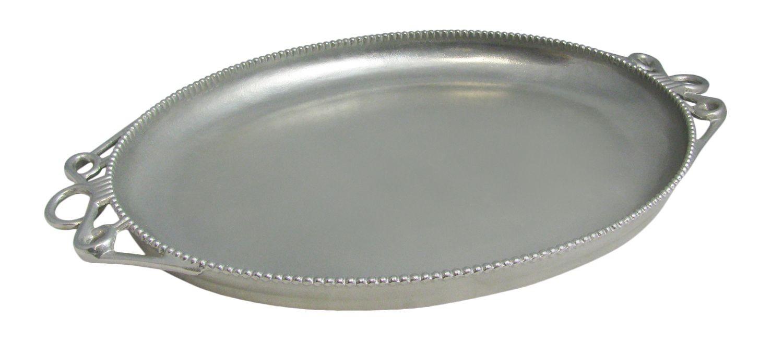 "Bon Chef 2104P Bolero Platter, Pewter Glo 14 3/4"" x 20"""