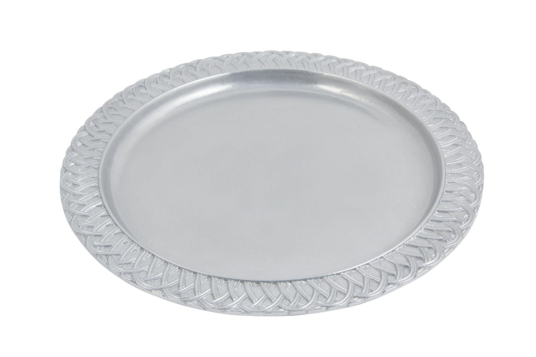 """Bon Chef 2302P Trellis Round Platter, Pewter Glo 13"""", Set of 3"""
