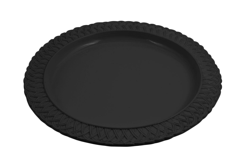 "Bon Chef 2302P Trellis Round Platter, Sandstone 13"", Set of 3"