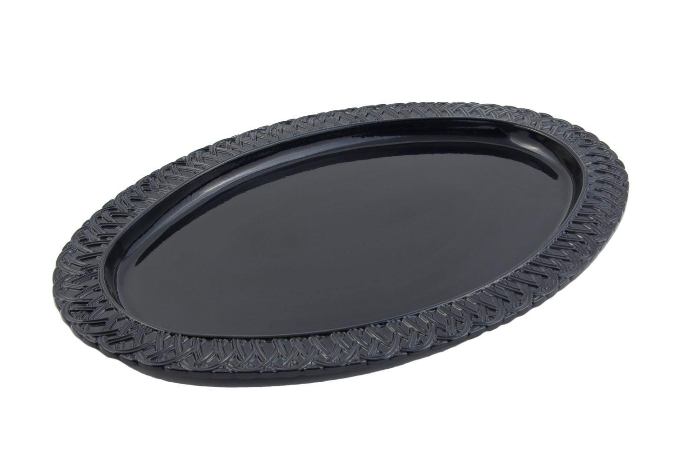"Bon Chef 2304S Trellis Oval Platter, Sandstone 15 1/2"" x 22 1/2"""