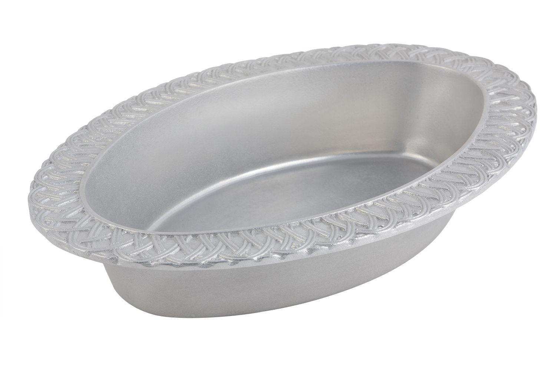 Bon Chef 2309P Trellis Oval Casserole Dish, Pewter Glo 7 Qt.