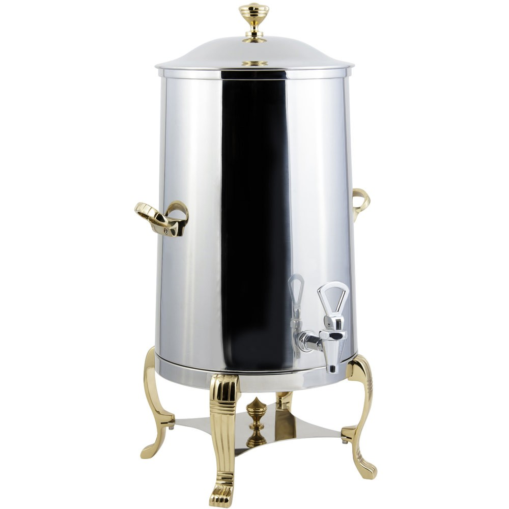 Bon Chef 40001-E Aurora Electric Coffee Urn with Brass Trim, 1 1/2 Gallon