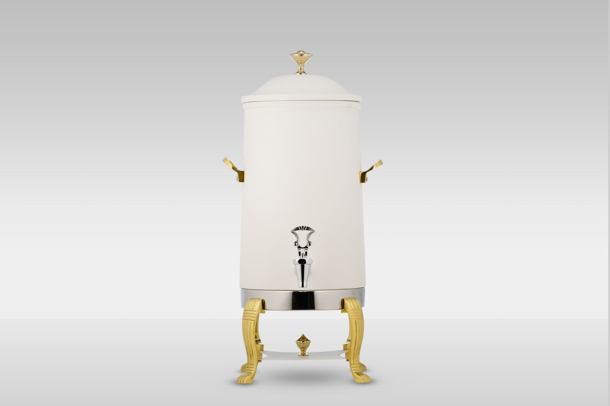 Bon Chef 40003-Nero Aurora Insulated Coffee Urn with Brass Trim,  Nero Finish, 3 Gallon