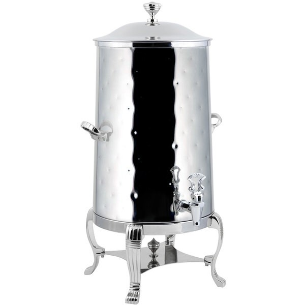 Bon Chef 40003CH-H Aurora Insulated Coffee Urn with Chrome Trim and Hammered Finish, 3 Gallon