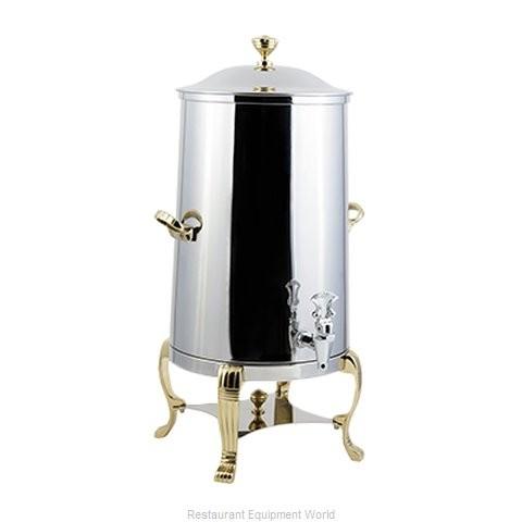 Bon Chef 40005-1 Aurora Insulated Coffee Urn with Brass Trim, 5 Gallon