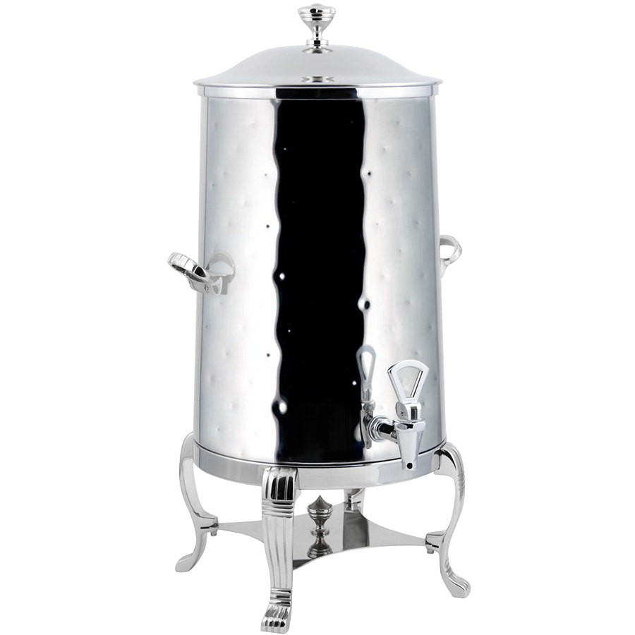 Bon Chef 40005-1CH-H Aurora Insulated Coffee Urn with Chrome Trim, Hammered Finish, 5 Gallon