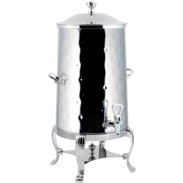 Bon Chef 40005-1CH-H-E Aurora Electric Coffee Urn with Chrome Trim,  Hammered Finish, 5 Gallon