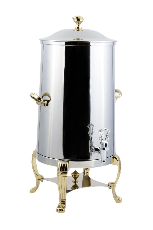 Bon Chef 40005 Aurora Insulated Coffee Urn with Brass Trim, 5 Gallon