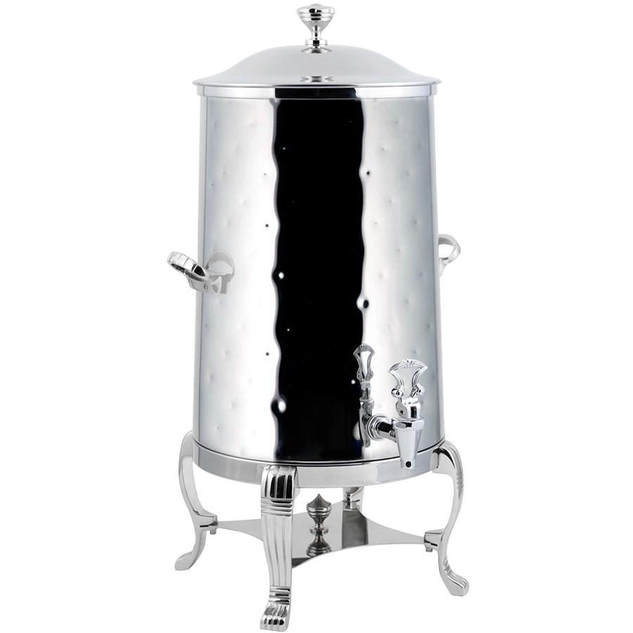 Bon Chef 40005CH-H Aurora Insulated Coffee Urn with Chrome Trim,  Hammered Finish, 5 Gallon