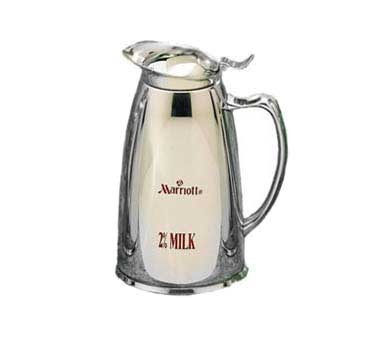 """Bon Chef 4050M2 Stainless Steel Insulated Server with """"Marriott 2% Milk"""" Crest, 10 oz., Set of 6"""