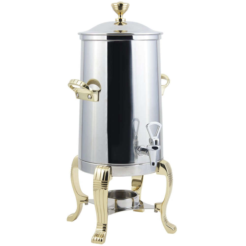 Bon Chef 41001-1 Aurora Single Wall Non-Insulated Coffee Urn with Contemporary Handle, 2 Gallon