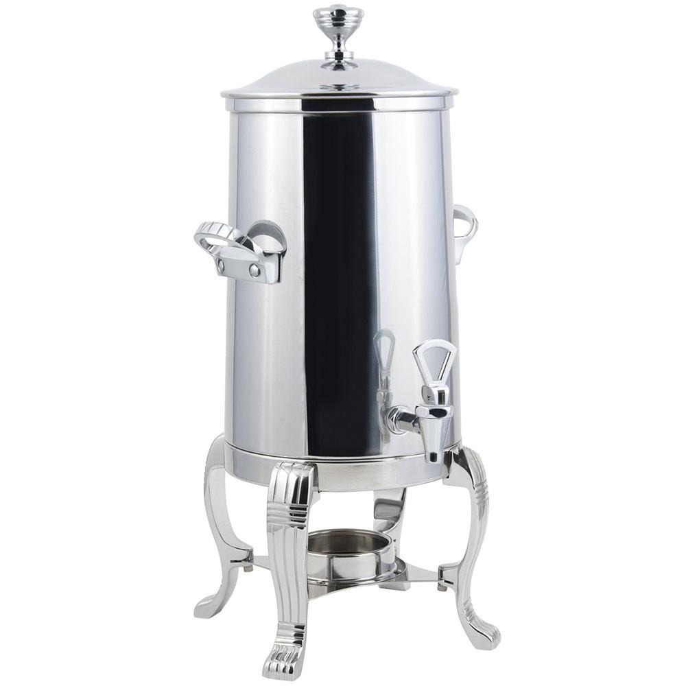 Bon Chef 41001-1C Aurora Single Wall Non-Insulated Coffee Urn with Chrome Trim, 2 Gallon