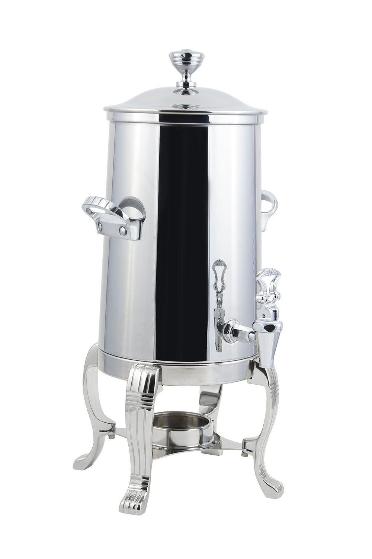 Bon Chef 41001C Aurora Single Wall Non-Insulated Coffee Urn with Chrome Trim, 2 Gallon